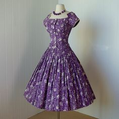 vintage 1950's dress ...rare mid-century danish by traven7