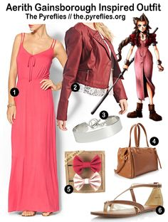 Final Fantasy Fashion - Final Fantasy VII 7 - Aerith Gainsborough Inspired Outfit / Look / Everyday Cosplay