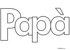 Auguri Papà Scritta Da Colorare Tuttodisegni Com Papa