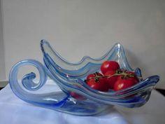 $39.00Italian Murano Blue Hand Blown Vintage Art Glass Large Swan Type Bowl
