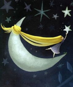 Illustration tangled photo moon stars Rapunzel claire keane rapunzel's amazing hair