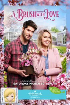"Its a Wonderful Movie - Your Guide to Family and Christmas Movies on TV: A Brush with Love - a Hallmark Channel ""Spring Fever"" Movie starring Arielle Kebbel & Nick Bateman Hallmark Channel, Films Hallmark, Hallmark Weihnachtsfilme, Family Christmas Movies, Hallmark Christmas Movies, Holiday Movie, Family Movies, Hallmark Holidays, Nick Bateman"