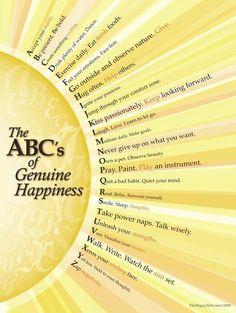 The ABC's of Genuine <b>Happiness</b>