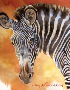 Zebra Original Oil Painting Wildlife Art