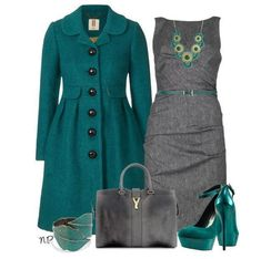 Grey and Green outfit