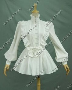 Find Victorian dress, Victorian costume women's ball gown, Gothic Steampunk costume, Renaissance gown, theater stage costume and Steampunk clothing Victorian Costume, Steampunk Costume, Steampunk Clothing, Lolita Cosplay, White Cotton Blouse, Cotton Blouses, White Blouses, Cotton Shirts, Hollister