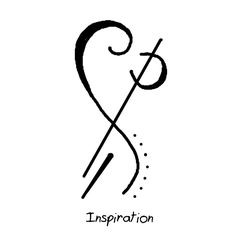 """Inspiration"" sigil It can be used for general inspiration or you can focus on a specific task or idea when using it to focus the inspiration to your intended goal."