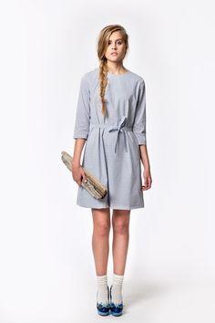 Windmill Cotton Shift Dress by Liisa Riski.   http://www.liisariski.com/collections/troupes-marinieres-spring-summer-2015