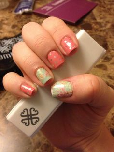 Jamberry - Icy Rose Polka Dots with Vintage Chic