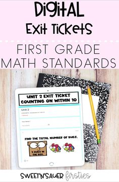 Try my digital math exit tickets with your kindergarten, 1st grade, or 2nd grade students. This resource is completely digital and will save you time since they auto-grade! Whether you're distance learning or in the classroom, having a quick formative assessment is great way to get a better understanding of your students' level of comprehension.
