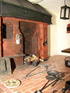 kitchen cooking fireplace by tkmrabbits, via Flickr