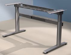 PowerMode Plus Electric Height Adjustable Desk Frame. Height Range 660mm to 1335mm. Available Widths Small - 1000mm to 1200mm. Large - 1400mm to 1800mm Available Depths 600mm or 800mm. Weight Loading 140 KG. Prices From £560.25 Plus vat. Free UK Delivery.  http://www.heightadjustabledesks.com/prod/81/sit-to-stand-desk-frames---powermode-plus