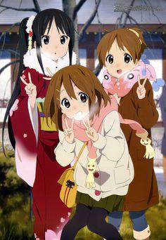 K-On! | Kakifly | Kyoto Animation / K-ON! - Megami Vol.117 (2010.02) / Hirasawa Yui, Akiyama Mio, and Hirasawa Ui