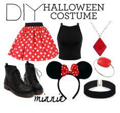 """DIY Halloween Costume - minnie ♥"" by jovanaa-bogdanovic ❤ liked on Polyvore featuring Miss Selfridge, ASOS, ADORNIA and Morganne Bello"
