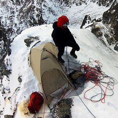 """Cameron M. Burns reports on a big enchainment on Kriváň (2494m) by Polish alpinists Tomasz Klimczak and Maciej Bedrejczuk. """"There are about 650 meters of altitude gain and it is all [technical] climbing"""" Klimczak told Alpinist. """"The lower section is harder and offers several pitches graded 6 (5.10) with loose rock and sometimes problematic protection."""" The two climbers bivouacked on a ridge about halfway up the route.  Read more on Alpinist.com. [Photo] Tomasz Klimczak by alpinistmag"""