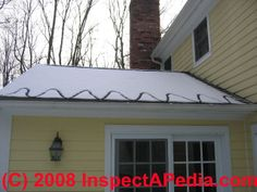 Metal Edging On Roof | Use Of Heat Tapes On Roofs To Prevent Ice Dam Leaks