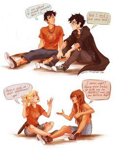 Percy Jackson & Harry Potter  Annabeth Chase & Ginny Weasly