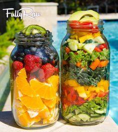 Health in a jar!! I love eating fully raw & juicing..so refreshing!  Photo Credit: Fullyraw.com #FavoriteThingsGiveaway