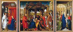 L'Adoration des Mages, Retable de sainte Colombe, Rogier van der Weyden