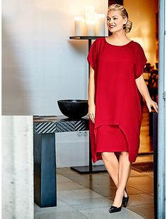 Guido maria kretschmer kleid rot schwarz