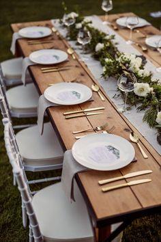 Wedding Table Setup, Wedding Table Decorations, Wedding Table Settings, Wedding Centerpieces, Reception Table, Place Settings, Table Setting For Dinner, Table Centerpieces, Wedding Table Arrangements