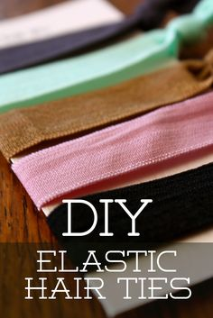 I need longer ones than they sell in the stores. Love the headbands too!  DYI Elastic Hair Ties // 4 cents per tie!  Great stocking stuffer!
