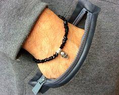 Pirates of the Caribbean  Mens bead braceletcharm by PetalcraftArt