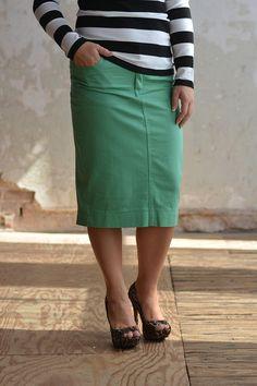 56da211f6ab93 11 Best Colored Denim Skirts images | Denim skirt, Color jeans ...