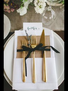 Perfect cutlery for a gold colour scheme