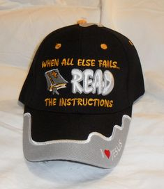 Read the Instructions Christian Hat Baseball Cap (Gods Word) 2 Timothy 3:16