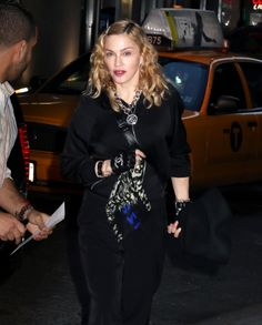 Madonna attending Tupac Musical in New York