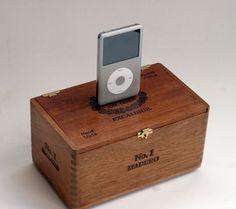 iPod iPhone Docking Station Cigar Box by leeannsvintagedecor