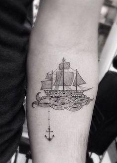 Ship and anchor