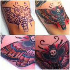 by dan smith #moth #animal I seriously still want a deaths head tattoo xD