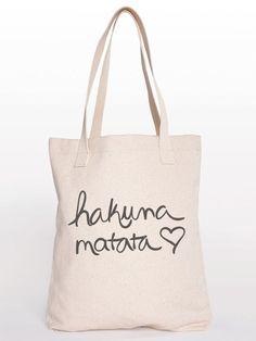 Hakuna Matata Cotton Shopping Bag Canvas Tote by KindLabel on Etsy, $24.00