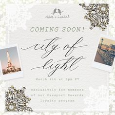 Calling all Passport Rewards Members! Tonight at 8pm CT the new City of Lights Collection will be available for purchase! ⭐️Exclusively for passport members⭐️  http://www.chloeandisabel.com/boutique/beckycrotts