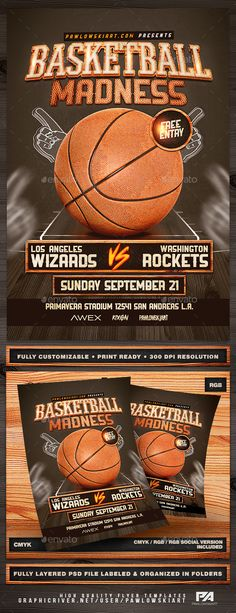 Basketball Madness v2 Flyer Template - Sports Events