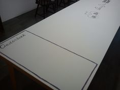 workshoptafel en gastenboek in één ~ workshoptable and guestbook in one @ tbakhuusonline