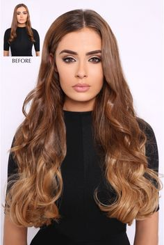 Double Thick Wavy Ombre Hair Extensions