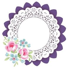 Perfect for the table runner & as a banner, course gotta check w/ our daughter first! MW no es mio Diy And Crafts, Arts And Crafts, Paper Crafts, Scrapbook Paper, Scrapbooking, Baby Food Jar Crafts, Shabby Chic Theme, Parchment Craft, Borders And Frames