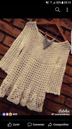 Watch This Video Beauteous Finished Make Crochet Look Like Knitting (the Waistcoat Stitch) Ideas. Amazing Make Crochet Look Like Knitting (the Waistcoat Stitch) Ideas. Gilet Crochet, Crochet Diy, Crochet Cardigan Pattern, Crochet Tunic, Crochet Jacket, Crochet Woman, Crochet Clothes, Diy Crafts Knitting, Yarn Crafts