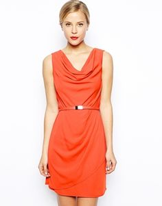 Image 1 of Oasis Cowl Neck Crepe Dress