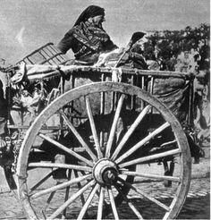 Un carro de  traperos. Estos vivían en los barrios de Tetuan y la Ventilla
