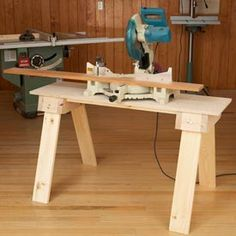 Knockdown Sawhorse Mini Bench Woodworking Plan, Workshop & Jigs Tool Bases & Stands Workshop & Jigs $2 Shop Plans