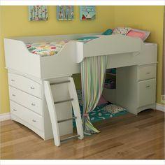 South Shore Imagine Twin Loft Bed in Pure White - 3560A3