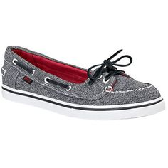 Journeys Shoes: Women's Vans Abby - Grey/Red/White - Polyvore