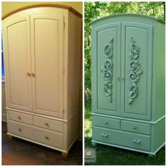 something like this to the armoire and dresser i'm getting today!!!!!!!! - jess