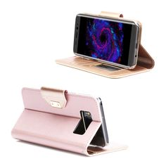 ProCase Galaxy S8 Wallet Case Flip Kickstand Case with Card Slots Mirror Wristlet Folding Stand Protective Cover for Samsung Galaxy S8 2017 Pink >>> Learn more by visiting the image link. (This is an affiliate link)