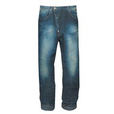 VIVIENNE WESTWOOD Anglomania asymmetric skull patch drop crotch denim jeans 28 #VivienneWestwood #Relaxed