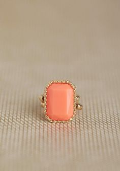 #Ruche                    #ring                     #Fresh #Elegance #Ring #Coral                       Fresh Elegance Ring In Coral                                                  http://www.seapai.com/product.aspx?PID=495949